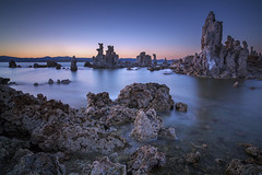 3 Minutes at Mono Lake (Joe Ganster) Tags: california ca sunset sea sky sun lake water 30 landscape mono us spring ancient highway long exposure skies sundown 10 nevada salt may joe sierra clear stop filter lee nd inland eastern tufa saltwater density 395 neutral vining ganster heliopan 10stop