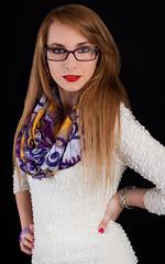 Karin (Norbert Králik) Tags: portrait black girl studio glasses background karin softbox walimex canoneos5d walimexprovc300 walimexprovc200