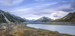 t a s m a n | mt cook national park, nz (elmofoto) Tags: travel sunset newzealand lake snow clouds evening nationalpark travels nikon fav50 fav20 glacier southisland fav30 southernalps aotearoa lent