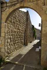 (Caitlin H. Faw) Tags: door light shadow color stone stairs canon landscape eos israel alley arch jerusalem may corridor entryway 5d ladder archway 20 entry yerushalayim markiii musrara 2013 caitlinfaw caitlinfawphotography