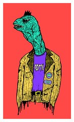 RAPTOR (Andr Coronado) Tags: animal monster illustration drawing raptor dibujo reptil chamo4