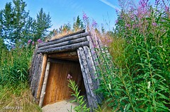Traditional Native Lodge (bettyeich) Tags: travel trees alaska native lakes totem lodge anchorage forests nativeheritage