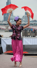 Faces Of Malaysia XI (faranorclarke) Tags: show portrait colour london asian dance nikon asia traditional dancer southbank malaysia colourful nikkor malay traditionaldress lightroom 18105 d90 tardition dancefan malaysiaculturalweek2013