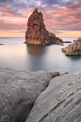 COSTA QUEBRADA NORTH PHOTO TOUR (R a q u e l d e C a s t r o | Images) Tags: longexposure sunset sea sky costa seascape clouds marina atardecer coast m