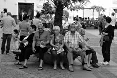 Retirees #3 (Franco & Lia) Tags: sardegna street blackandwhite bw eyecontact sardinia noiretblanc bn sw biancoenero blackdiamond alghero retirees pensionati stphotographia