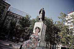 Posing at Trg Nikole Pašića - Nikola Pašić Square