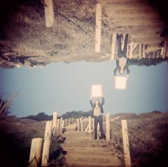 Wymond Miles Photoshoot (RingoRockYay) Tags: sf sanfrancisco camera 120 6x6 beach stairs analog mediumformat photography mirror bay holga lomo xpro lomography fuji doubleexposure crossprocess toycamera slidefilm multipleexposure velvia crossprocessing bayarea oceanbeach fujifilm 100 velvia100 sunnyday xprocessing multiexposure expiredfilm plasticlens chromefilm ringorockyay wymondmiles
