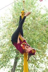 Hanging by a silken thread (DriveByShutter) Tags: yellow festival dance high burgundy silk fair aerial carolina ren faire acrobat fest renaissance rigging 2013