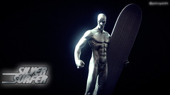 Silver Surfer - Wallpaper (Gui Lopes BH) Tags: classic silver toys miniatures action surfer statues collection figurines xmen marvel universe panini figures avengers chumbo eaglemoss guilopesbh