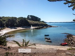 Beach and Boats - Ile-aux-Moines (doublejeopardy) Tags: france beach boat cove continent morbihan ileauxmoines portplanc