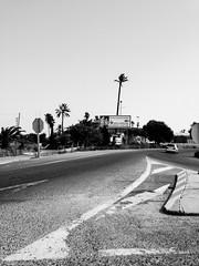 AP-7 (Pascal Heymans) Tags: road blackandwhite bw espaa landscape spain zwartwit onthego reis route commuting espagne spanien spanje weg landschap viajar enroute zw reizen onderweg ap7 baumeln pendelen porelcamino iphoneography fairelanavette