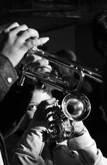 little trumpetist (Alexis Karnoutsos) Tags: portrait white black digital canon trumpet 7d brass πανηγυρι goumenissa πορτρετο γουμενισσα τρομπετα χαλκινα καζανια