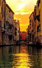 Venezia II (soret_) Tags: travel venice sunset italy architecture photography canal photo europe sony a33 gondola venezia gondolas