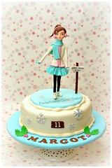 Skate Icing Girl (Fantasticakes (Ccile)) Tags: winter ice girl birthdaycake sugarmodelling sugarcharacter skatingicing