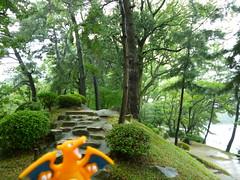 Charizard in Hiroshima, Hiroshima 18 (Shukkei-en Garden) (Kasadera) Tags: toys hiroshima figure pokemon pokmon  charizard   glurak  shukkeiengarden pokemonkids   dracaufeu