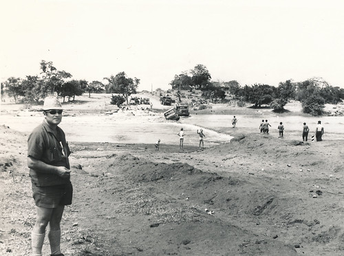 A flooded bridge in Moz somewhere (1971)