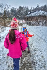 friday fun. (alyssaBLACK.) Tags: trees winter snow toronto canada color nature kids colorful skiing icestorm hdr uplands anow uplandsskicentre