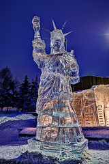 icesculpture_liberty_2014 (AnchorageDowntownPartnership) Tags: ice alaska square town downtown anchorage sculptures carvings