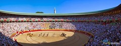 "San Fermín Plaza Toros Bull Ring 01 <a style=""margin-left:10px; font-size:0.8em;"" href=""http://www.flickr.com/photos/116167095@N07/12270074614/"" target=""_blank"">@flickr</a>"