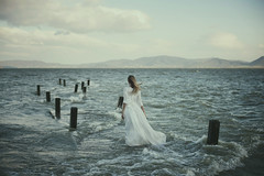 (Alessio Albi) Tags: sea portrait woman lake water girl photography mood atmosphere