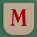 Line Word red letter M