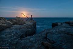 GOLDEN MOON HOUR (TwentyOne9) Tags: seascape southwest nightscape fullmoon moonlight lunar portlandbill twentyone9 bricrompton twentyone9photography