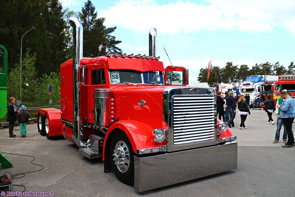 Chrome Stacks For Semi Trucks : The world s best photos of lights and peterbilt flickr