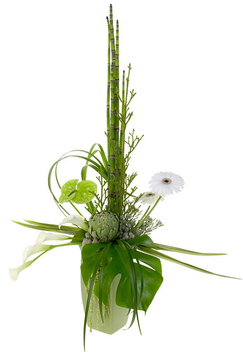 Formal Linear Flowers — David Kesler, Floral Design Institute, Inc., in Portland, Ore.