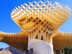 Metropol Parasoll La Macarena Seville Spain POB_20140308 (peterob) Tags: mushroom lumix spain geometry seville panasonic g5 curve parasoll lamacarena micro43