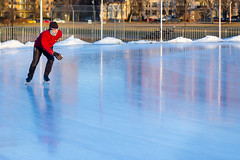 Rounding the Bend (Iguanasan) Tags: canada ice novascotia skate practice halifax oval iceskate speedskater halifaxcommons emeraoval