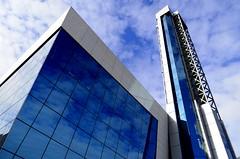 Zener (diegomontana) Tags: sky españa azul clouds spain nikon valladolid ventanas cielo nubes espejos ascensores zener d5100