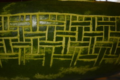 Watermelon Basket Weave (thomas.hartmann496) Tags: green fruit photo carved pattern basket pennsylvania carve watermelon woven melon weave