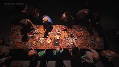 Manteles al Óleo #5 (supernova.studio) Tags: people food abstract art paint abstractart performance oilpainting happening zenital hangarorg artisticperformance danielyacubovich mantelesalóleo