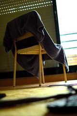 Chair (joaop_21) Tags: blue black yellow branco azul 35mm bedroom chair nikon bokeh towel preto amarelo porto toalha quarto nikkor oporto cadeira d3200