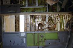 Inside 727-225, N8848E (Ian E. Abbott) Tags: mojave boeing recycling scrapping scrap panam boneyard 727 boeing727 aircraftinterior mojaveairport 727200 mhv kmhv panamericanworldairways boeing727200 727225 boeing727225 n8848e aircraftstructure aircraftscrapping airlinerscrapping
