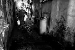 back streets (㋡ Aziz) Tags: new travel bw night photography blackwhite fuji nightshot streetphotography streetshot