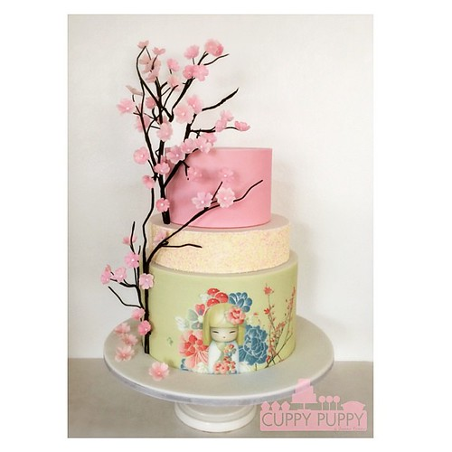 Astonishing Sharmaine Cake Sweet Japanese Themed Birthday Cake For An 18Th Funny Birthday Cards Online Elaedamsfinfo