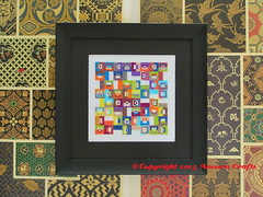New DMC Floss Colors Geometric Pattern (Ancora Crafts) Tags: new geometric colorful crossstitch pattern squares embroidery needlepoint dmc floss