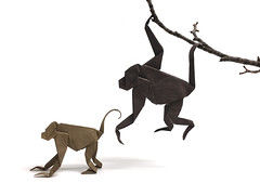 Spider Monkey (Beth's Origami) Tags: