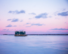 Canada (StevenPo) Tags: sunset lake frozen xpro fuji sundown fujifilm fujinon frozenlake xpro1