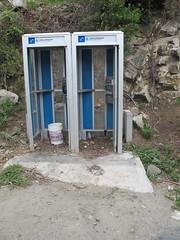 Double Phone ` BVI (verplanck) Tags: creek gun telephone vanishing bvi virgingorda