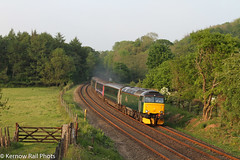 Evening Sun at Respryn. (Kernow Rail Phots) Tags: summer sun train evening gate cornwall scenic railway exeter railways penzance kernow gwr class57 totnescastle 57605 respryn 2c51
