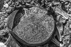 Calumet (Meteorseeker) Tags: blackandwhite food building ford nature monochrome architecture trash canon insect outside desert outdoor nevada americana nationaltreasure oldwest oldnevada canon60d