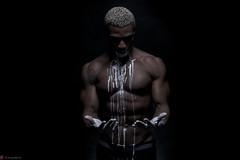 IMG_3763 (m.acqualeni) Tags: white black ink dark de noir nu muscle expression peinture manuel blanche manu personne couleur fond homme photographe motion bodybulder acqualeni