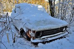 fiat 128 (riccardo nassisi) Tags: auto snow abandoned car pc rust fiat rusty scrapyard scrap piacenza ruggine relitto foresta 128 rottame epave abbandonata lisore