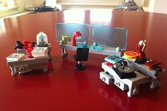 Tony Stark's basement (Lego Skeleton) Tags: man iron lego tony marvel stark