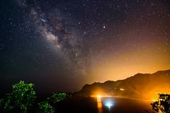 The Milky Way (Hen) Tags: light sea summer sky mountain beach night boat nikon ship taiwan tokina galaxy d750  hualien  yilan