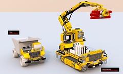 movie large crawler compare (Xon_67) Tags: movie construction lego crawler ldd bricksburg bluerender