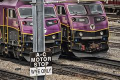 Locos in Yard (PAJ880) Tags: boston yard ma rail rr commuter mbta locos mpi hsp46
