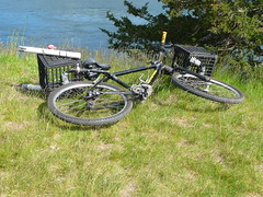 Fishing Bike (wildukuleleman) Tags: bike bicycle canal fishing massachusetts cape cod